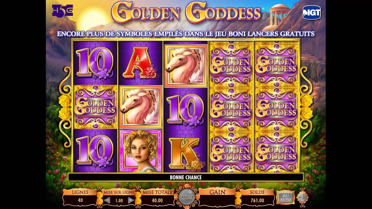 Machine à sous Golden Goddess vous propose une version gratuite pour vous entraîner!